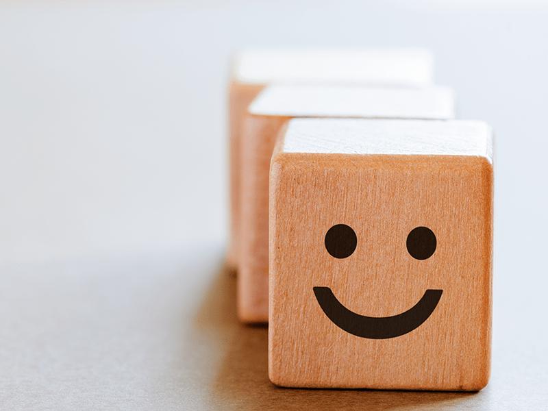 happy face representing reputation