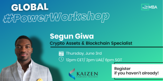 a photo of Segun Giwa on a promotional banner for a workshop